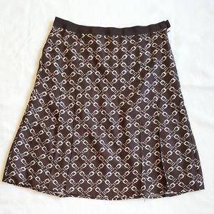 J Crew Belt - patterned silk pleated skirt
